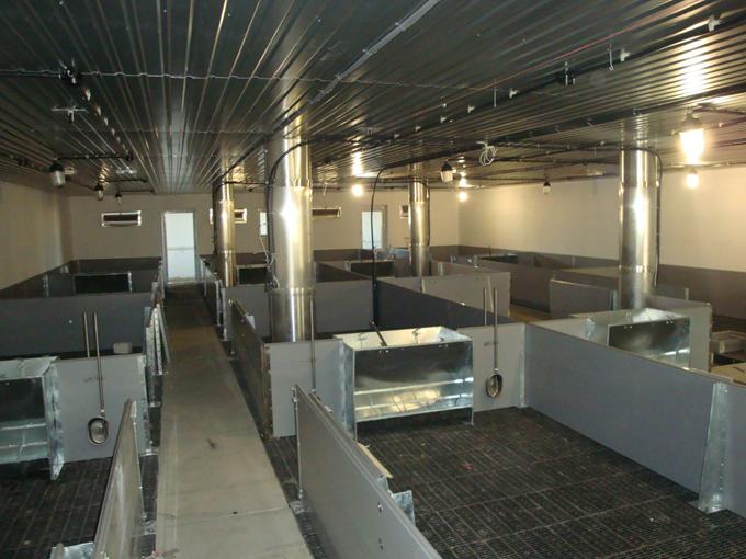 Клетка доращивания на бетонной ванне