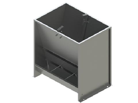 Кормушка бункерного типа 2-х сторонняя 6-и секционная для доращивания 100 литров