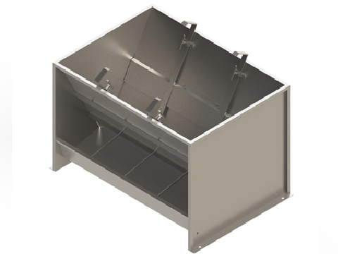 Bunker type feeder 2-sided 8-section for growing-finishing 150 liters