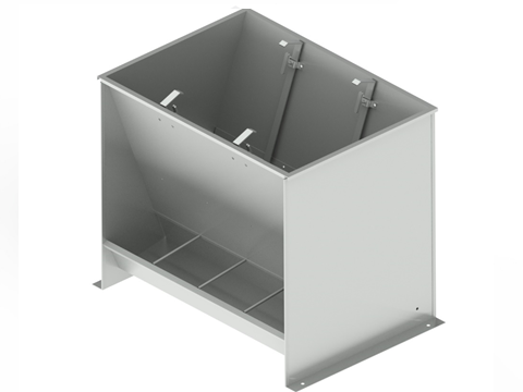 Bunker type feeder 2-sided 8-section for growing-finishing 190 liters