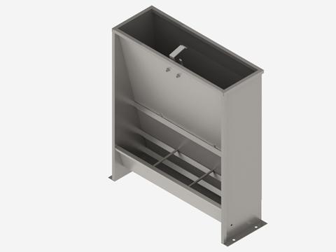 Кормушка бункерного типа односторонняя 3-х секционная для доращивания 50 литров