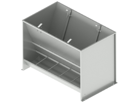 Bunker type feeder 2-sided 10-section for growing-finishing 230 liters