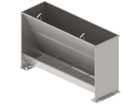Bunker type feeder one-sided 4-section STAINLESS for fattening 190 liters