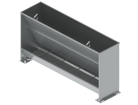 Bunker type feeder one-sided 5-section STAINLESS for fattening 240 liters