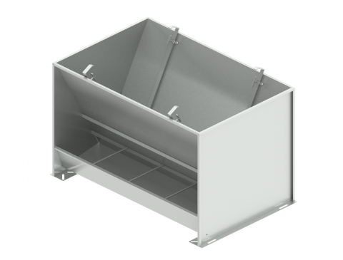 Bunker type feeder 2-sided 8-section STAINLESS for fattening 380 liters
