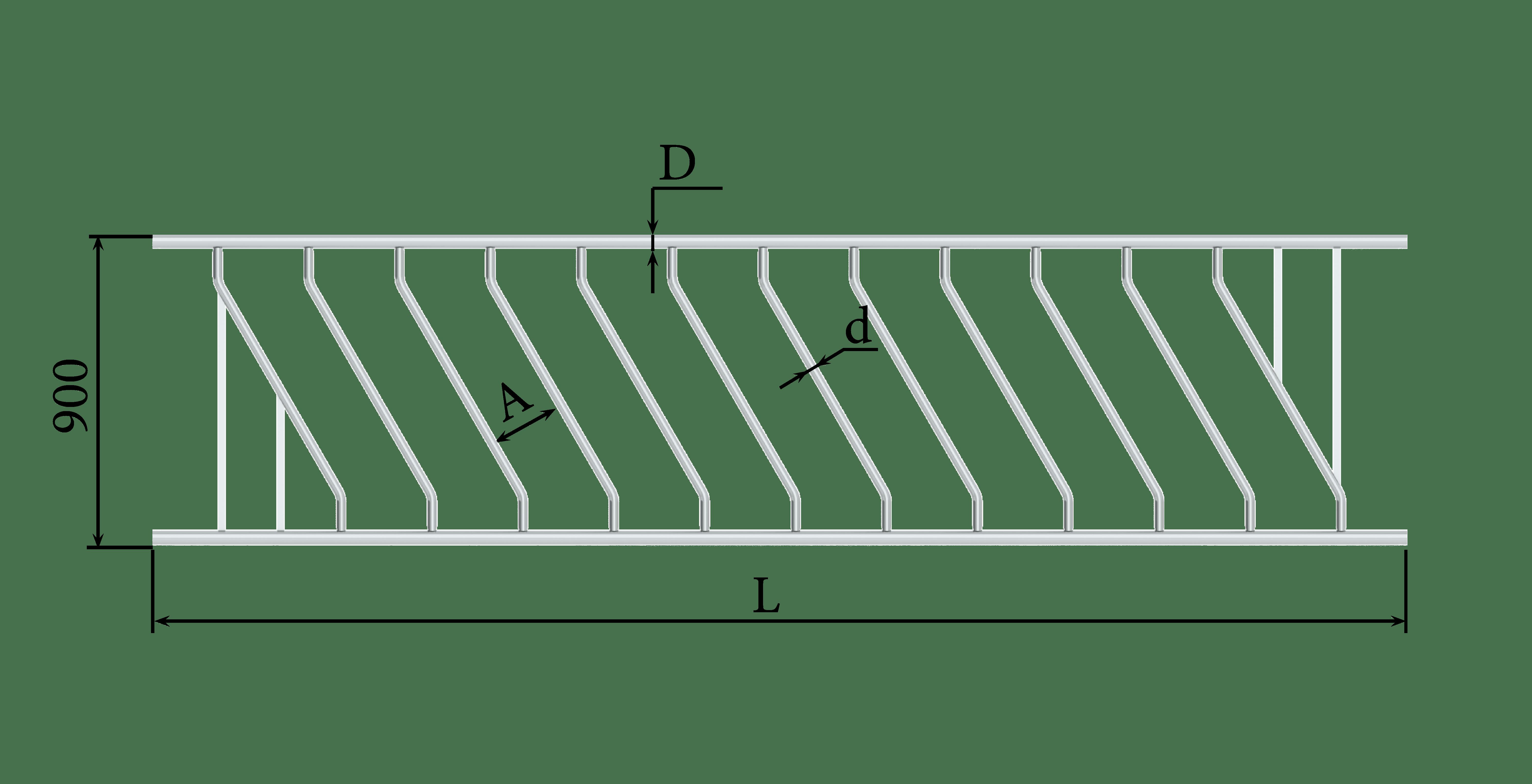 Решетка кормовая диагональная