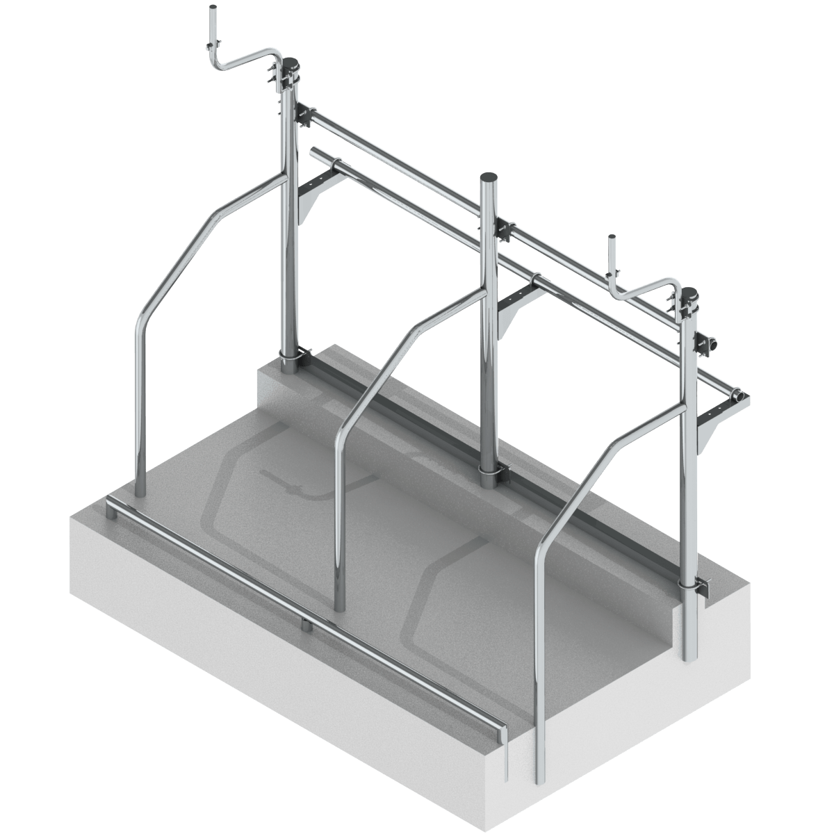 Стійлове обладнання для прив'язного утримання корів