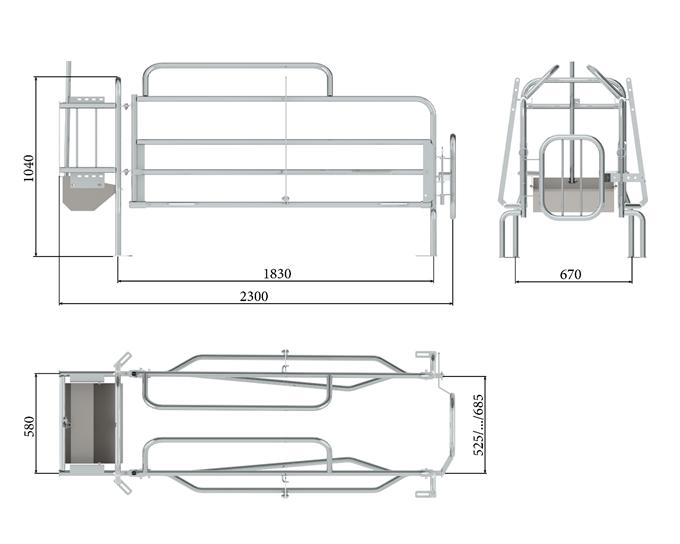 Farrowing stall Type 3