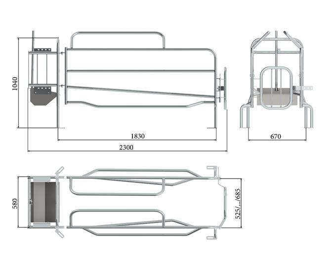 Верстат для опоросу Тип 4