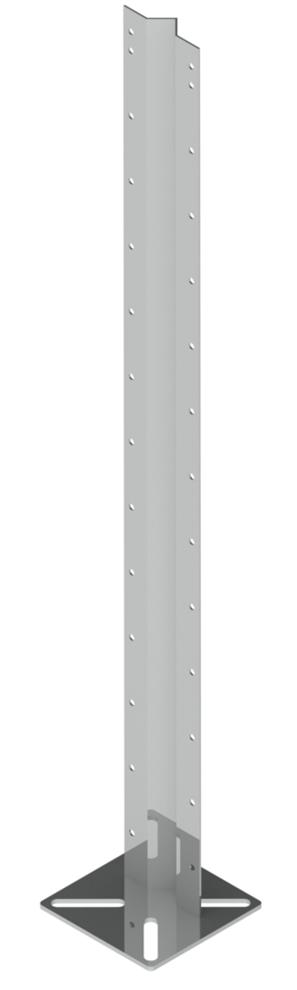 Кронштейны П для клеток из пластикового ПВХ профиля