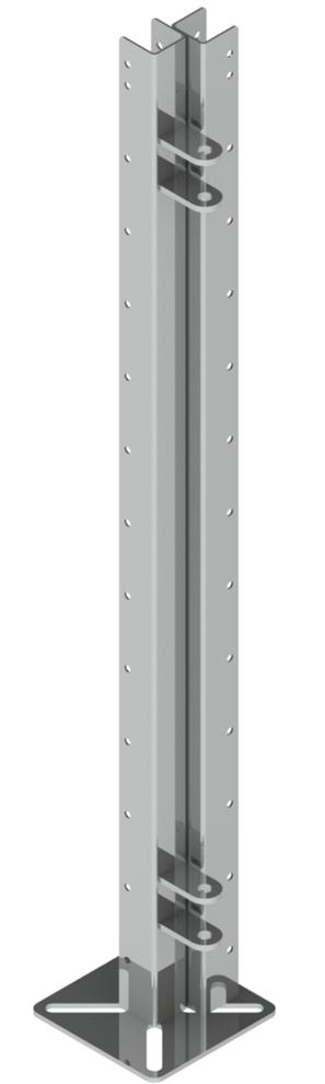 Кронштейны Ш для клеток из пластикового ПВХ профиля