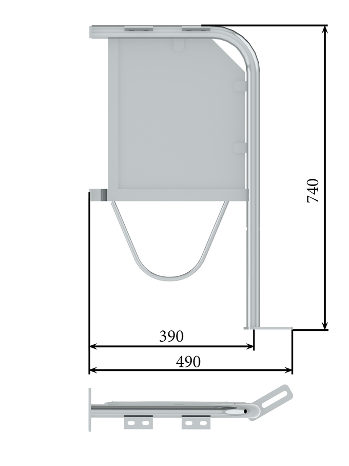 Клітка для вмісту супоросних свиноматок 0,74 м