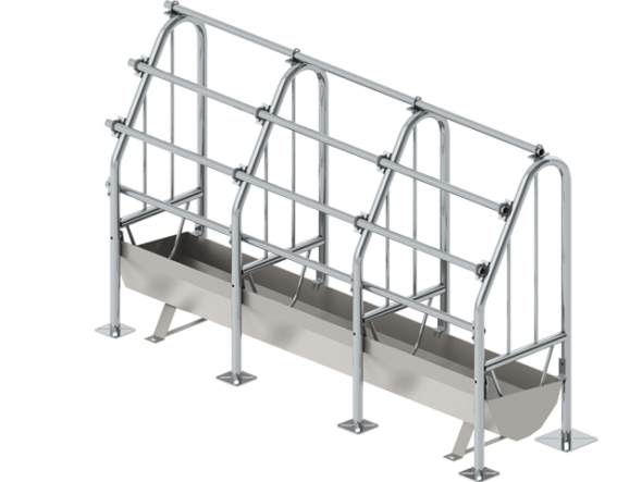 Metal cage with partition DP*-2-7,5 (*distribution point)